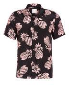 sandro Halbarm-Resorthemd Regular Fit , Farbe: SCHWARZ/ ROSA (Bild 1)