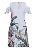 TED BAKER Cold-Shoulder-Kleid, Farbe: HELLGRAU/ GRÜN/ BLAU (Bild 1)