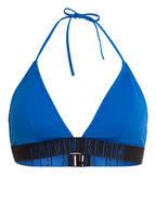 Calvin Klein Triangel-Bikini-Top INTENSE POWER, Farbe: BLAU/ SCHWARZ (Bild 1)