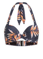 CYELL Push-up-Bikini-Top PALM NIGHTS , Farbe: DUNKELBLAU/ WEISS/ ORANGE (Bild 1)