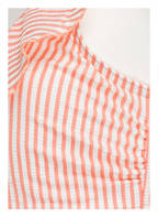 TOMMY HILFIGER One-Shoulder-Bikini-Top, Farbe: LACHS/ WEISS GESTREIFT  (Bild 1)
