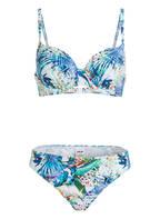 Hot Stuff Bügel-Bikini TROPICAL ISLAND , Farbe: BLAU/ WEISS (Bild 1)
