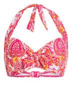 Hot Stuff Neckholder-Bikini-Top PINK PAISLEY, Farbe: PINK/ ORANGE (Bild 1)