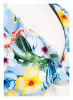Hot Stuff Triangel-Bikini-Top HAWAII, Farbe: HELLBLAU/ GELB (Bild 1)