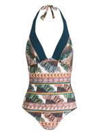 MARYAN MEHLHORN Badeanzug BELLE EPOQUE, Farbe: OFFWHITE/ PETROL/ BRAUN (Bild 1)