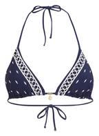 watercult Triangel-Bikini-Top ARTFUL DOT, Farbe: NAVY/ OFFWHITE (Bild 1)