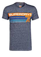 Superdry T-Shirt, Farbe: BLAU MELIERT (Bild 1)
