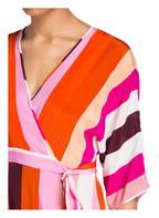 DIANE VON FURSTENBERG Seidenkleid, Farbe: ORANGE/ PINK/ WEISS (Bild 1)