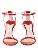JIMMY CHOO Sandaletten MINNY 85, Farbe: ROT (Bild 1)