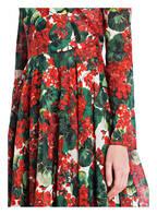 DOLCE&GABBANA Kleid, Farbe: ROT/ GRÜN/ ECRU (Bild 1)