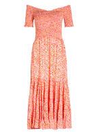 Poupette St Barth Off-Shoulder-Kleid SOLEDAD, Farbe: PINK/ WEISS (Bild 1)