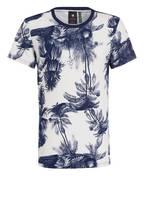 G-Star RAW T-Shirt MONS, Farbe: WEISS/ DUNKELBLAU GEMUSTERT (Bild 1)
