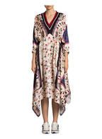 sandro Kleid, Farbe: BEIGE/ DUNKELBRAUN/ ROT (Bild 1)