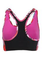 Nike Sport-BH SWOOSH , Farbe: FUCHSIA/ HELLBLAU/ SCHWARZ (Bild 1)