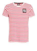 SCOTCH & SODA T-Shirt, Farbe: ROT/ WEISS GESTREIFT (Bild 1)