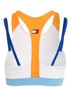TOMMY HILFIGER Sport-BH, Farbe: ORANGE/ WEISS/ HELLBLAU (Bild 1)
