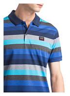 PAUL & SHARK Piqué-Poloshirt, Farbe: TÜRKIS/ BLAU/ GRAU MELIERT  (Bild 1)