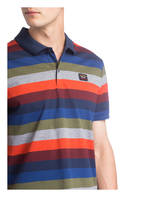 PAUL & SHARK Piqué-Poloshirt, Farbe: DUNKELBLAU/ GRAU/ KHAKI (Bild 1)