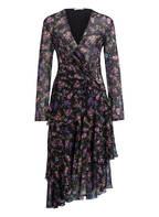 PATRIZIA PEPE Kleid, Farbe: SCHWARZ/ GRÜN/ LILA (Bild 1)