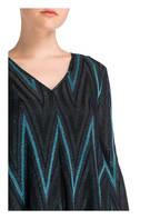 M MISSONI Kleid, Farbe: SCHWARZ/ TÜRKIS (Bild 1)