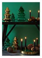 GIFTCOMPANY Tablett LAYER mit Kerzenhalter, Farbe: DUNKELGRÜN/ GOLD (Bild 1)