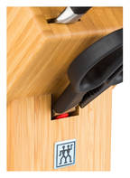 ZWILLING 7-tlg. Messerblock VIER STERNE, Farbe: BEIGE/ SCHWARZ/ SILBER (Bild 1)