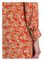 sandro Seidenkleid, Farbe: ROT/ BEIGE (Bild 1)