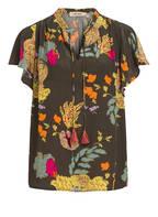 MOS MOSH Blusenshirt RENATA AVA, Farbe: OLIVE/ GELB/ FUCHSIA (Bild 1)