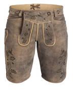 OSTARRICHI Trachten-Lederhose MAXIMILIAN, Farbe: BRAUN (Bild 1)