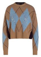PINKO Pullover MESOPOTANIA , Farbe: CAMEL/ HELLBLAU/ DUNKELBLAU (Bild 1)