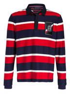 TOMMY HILFIGER Piqué-Poloshirt , Farbe: DUNKELBLAU/ ROT/ WEISS (Bild 1)