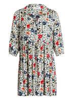 ba&sh Kleid PASCOU, Farbe: ECRU/ BEIGE/ DUNKELGRÜN (Bild 1)