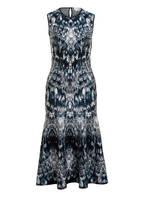 ALEXANDER McQUEEN Jacquard-Kleid, Farbe: SCHWARZ/ WEISS/ HELLBLAU (Bild 1)
