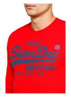 Superdry Langarmshirt, Farbe: ROT/ BLAUGRAU (Bild 1)