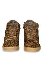 BULLBOXER Hightop-Sneaker mit Kunstfellfutter, Farbe: BRAUN/ HELLBRAUN (Bild 1)