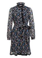 TORY BURCH Kleid PRINTED DENEUVE, Farbe: DUNKELBLAU/ HELLBLAU/ BEIGE (Bild 1)