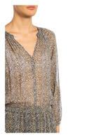 velvet Kleid, Farbe: SCHWARZ/ CAMEL (Bild 1)