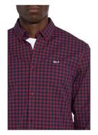 TOMMY JEANS Hemd Slim Fit, Farbe: DUNKELROT/ DUNKELBLAU KARIERT (Bild 1)