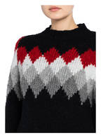 WOOLRICH Pullover FLAME, Farbe: SCHWARZ/ GRAU/ ROT (Bild 1)
