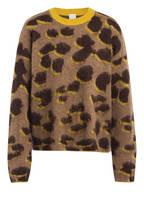 BOSS Pullover INDIANIS, Farbe: CAMEL/ DUNKELBRAUN/ DUNKELGELB (Bild 1)