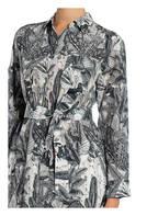 WEEKEND MaxMara Hemdblusenkleid OSSOLA aus Seide, Farbe: GRAU/ WEISS (Bild 1)