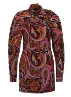 ROTATE BIRGER CHRISTENSEN Kleid NUMBER 1, Farbe: SCHWARZ/ ALTROSA/ DUNKELGELD (Bild 1)