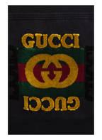 GUCCI Jeansjacke mit Kunstfellbesatz, Farbe: SCHWARZ (Bild 1)