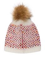 Barts Mütze SHOW mit Kunstfellbommel, Farbe: WEISS/ ROSA/ ROT (Bild 1)