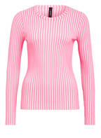 MARCCAIN Pullover, Farbe NEONPINK/ WEISS GESTREIFT (Bild 1)