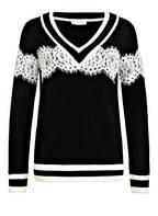 CLAUDIE PIERLOT Pullover MIKE, Farbe: SCHWARZ/ WEISS (Bild 1)