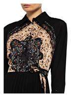 sandro Plisseekleid, Farbe: SCHWARZ/ CREME/ BEIGE (Bild 1)