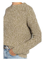 OPUS Pullover PARTO MOULINE, Farbe: GRÜN/ WEISS MELIERT (Bild 1)