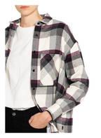 WOOLRICH Bluse ARCHIVE, Farbe: WEISS/ GRAU/ DUNKELLILA (Bild 1)