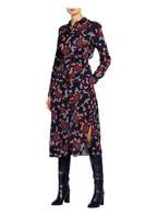 s.Oliver BLACK LABEL Hemdblusenkleid, Farbe: DUNKELBLAU/ ROT/ ORANGE (Bild 1)
